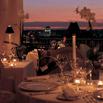 Roma al tramonto dalla terrazza del ristorante Mirabelle